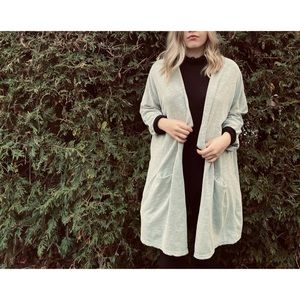 DONNI light grey 3/4 sleeve one size cardigan